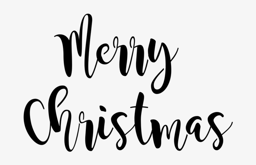 Merry Christmas Text Png Transparent Images - White Merry Christmas Png, transparent png #108011