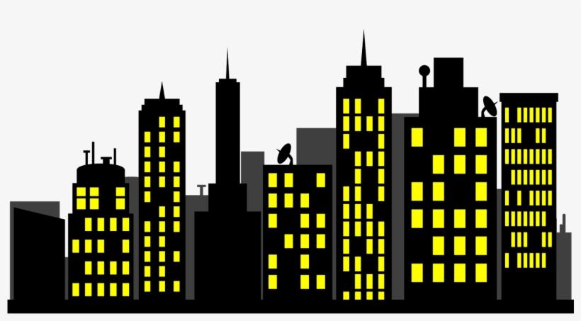 Skyline Clipart Superhero - Superhero Building Png - Free ...