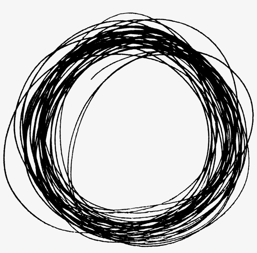 Free Download - Black Circle Scribble Png, transparent png #109137