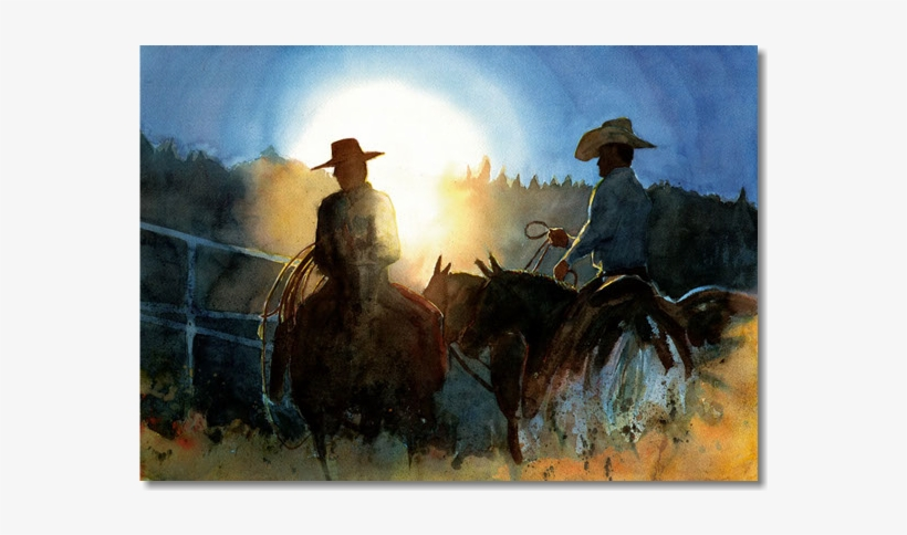 Original Traditional Watercolors By Gregory Effinger - Cowboy, transparent png #109221