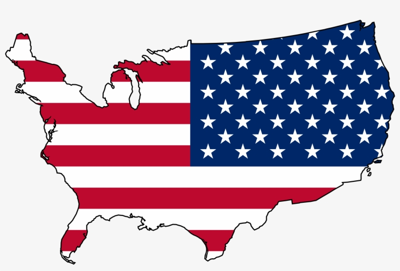 Usa Png Map Clip Black And White - Usa Map Flag Png - Free ...