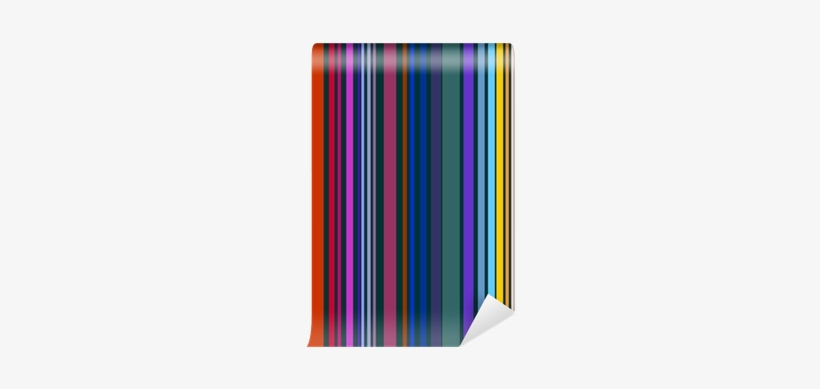 Decorative Colorful Stripe Pattern Wall Mural • Pixers® - Graphic Design, transparent png #1000240