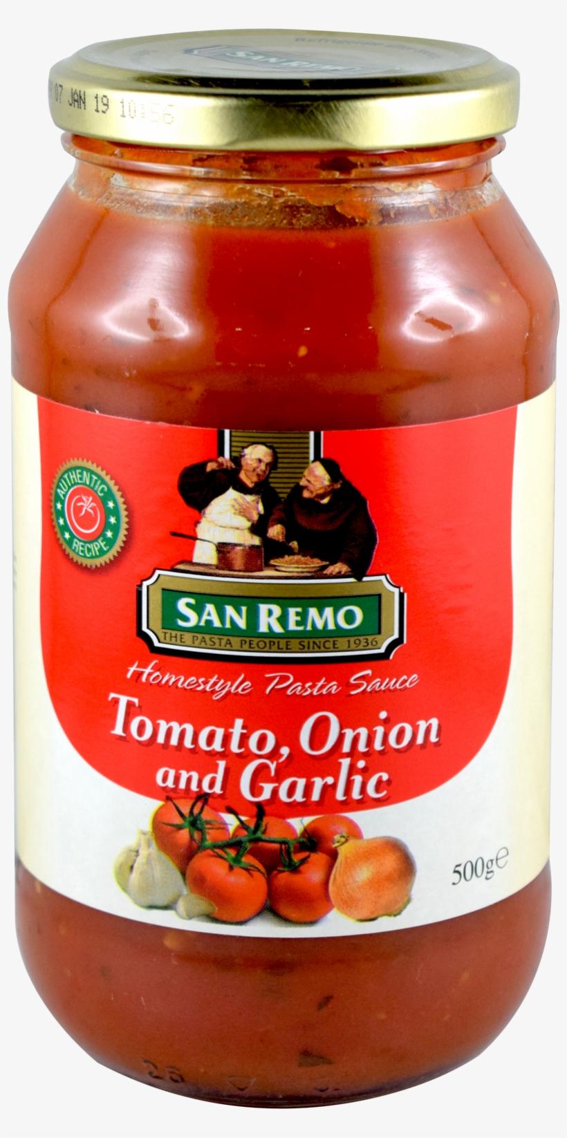 Graphic Library Download San Remo Tomato Onion Garlic - San Remo Pasta Sauce, transparent png #1003190