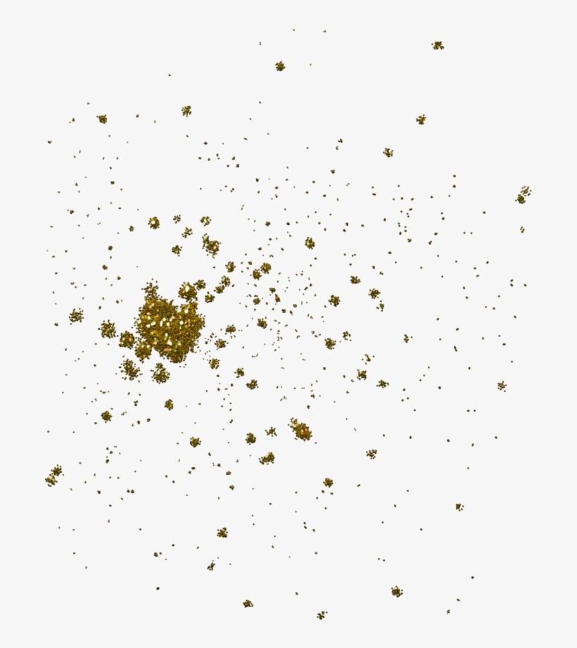 Glitter Clipart Gold - Gold Glitter Splash Png, transparent png #1003244