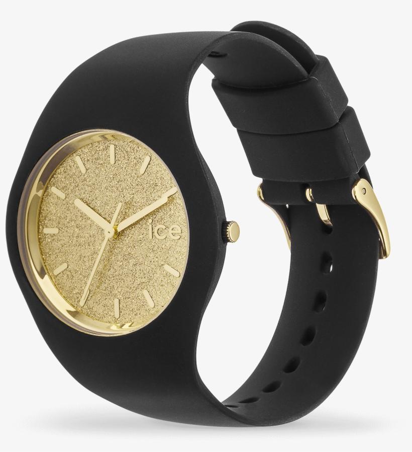 Ice Glitter - Black Gold - Ice Watch Glitter Black Rose Gold, transparent png #1003365