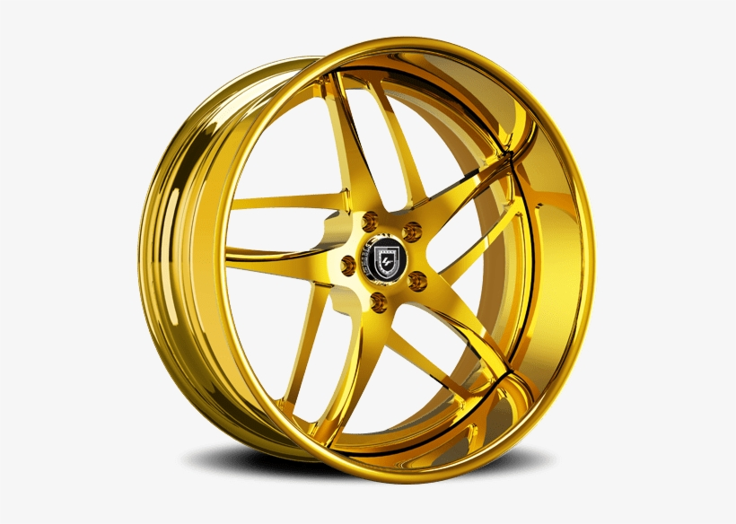 Gold Sparkle - Lexani Rims Gold, transparent png #1003421