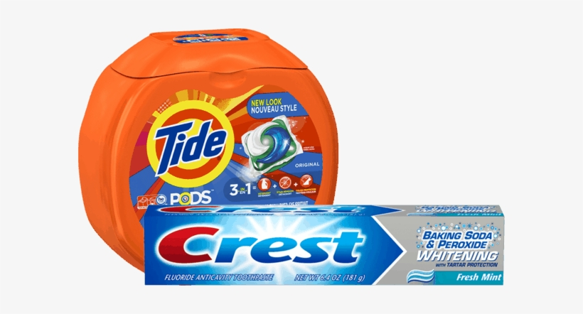 00 For Tide® Pods™ Or Gain® Flings™ & Crest® Toothpaste - Tide Pods Original Scent He Turbo Laundry Detergent, transparent png #1003611