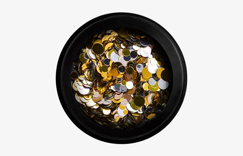 Nail Confetti Gold & Silver - Silver, transparent png #1006430