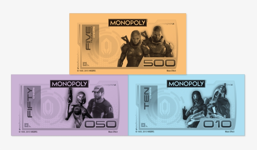 Mass Effect N7 Collector's Edition Is Available At - Monopoly Money Set Of 3 Tea Towels, transparent png #1007729