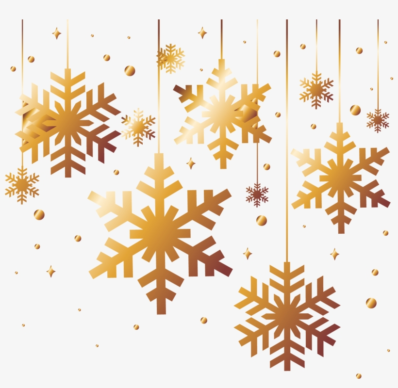 Gold Snowflake Png - Copos De Nieve Navidad, transparent png #1008444