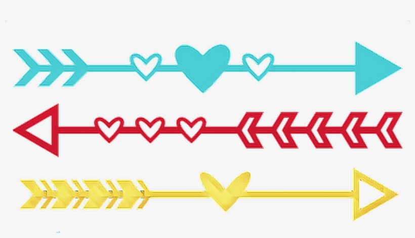 #arrow #arrows #heart #hearts #divider #frame #border - Valentines Day Arrow Svg, transparent png #10055531