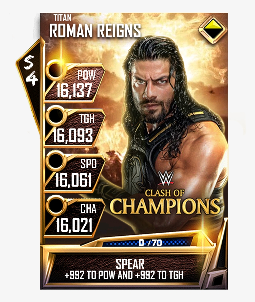 My Next Card Is The Big Dog @wweromanreigns Get Well - Collectible Card Game, transparent png #10061914