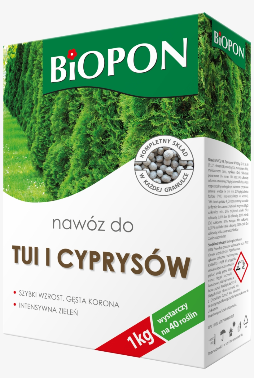 Biopon Arborvitae And Cypress Trees Fertilizer - Biopon Concime Biopon 1042, transparent png #10067143