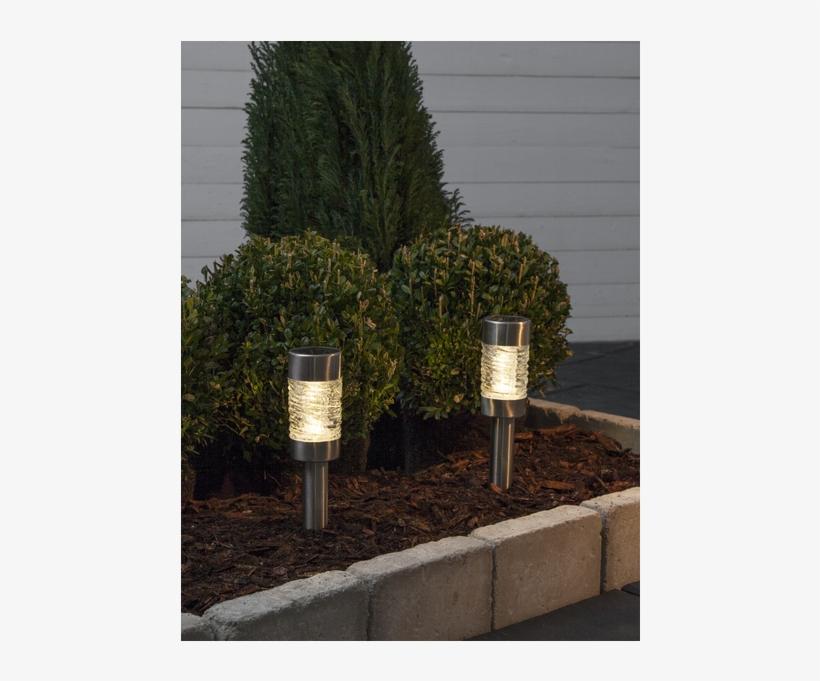 Solar Bollard 2 Pack Capri - White Pine, transparent png #10067210