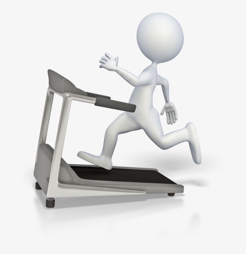 Jpg Freeuse Library Cliparts For Free Download And - Stick Figure Running On Treadmill, transparent png #10068152
