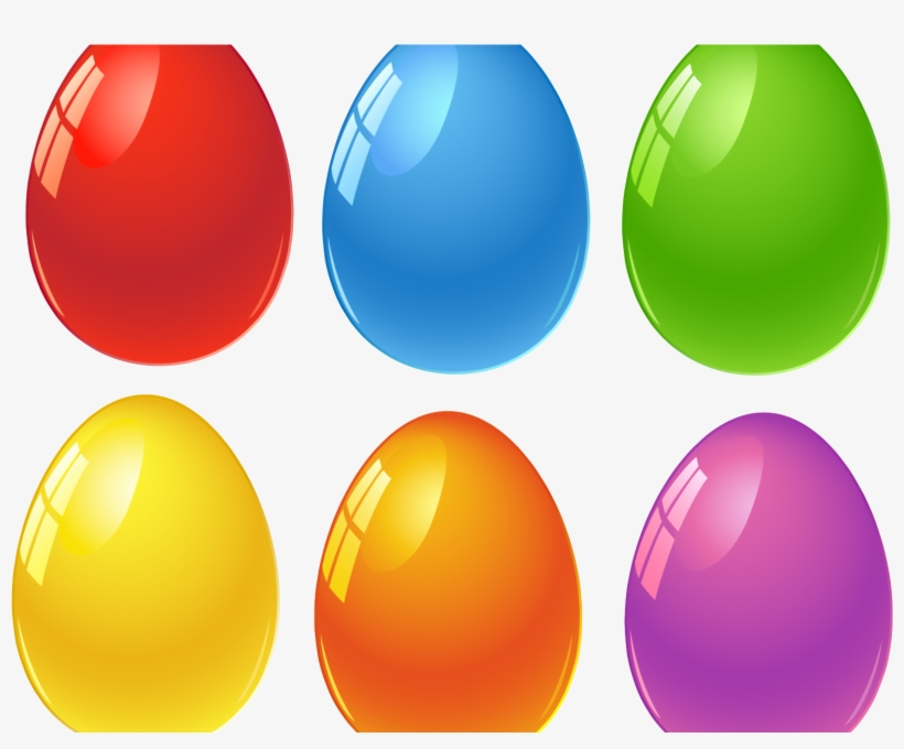 Colored Easter Eggs Printable, transparent png #10069306