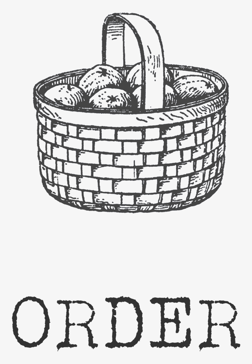 Order Icon - Drawing Of Wicker Basket, transparent png #10071528