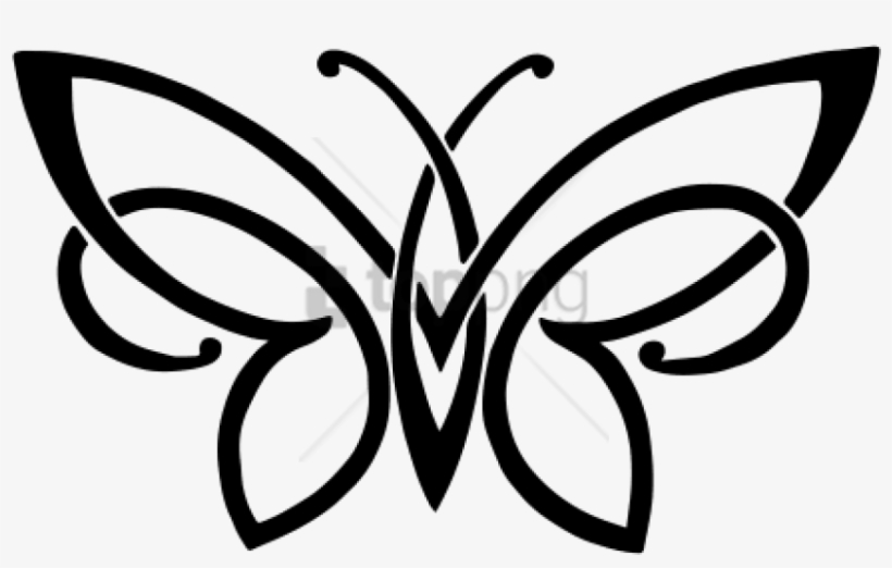 Free Png Simple Butterfly Tattoo Png Image With Transparent - Simple Tribal Butterfly Tattoos, transparent png #10071594