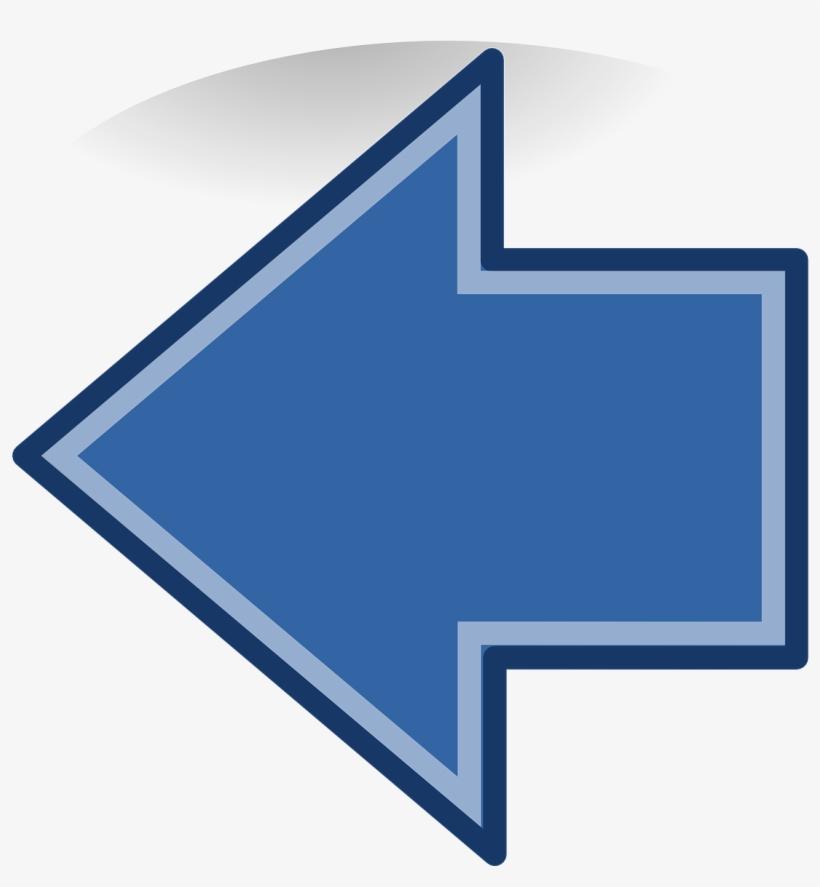 Arrow Left Blue Icon Button Png Image - Flecha Azul Izquierda Png, transparent png #10072983