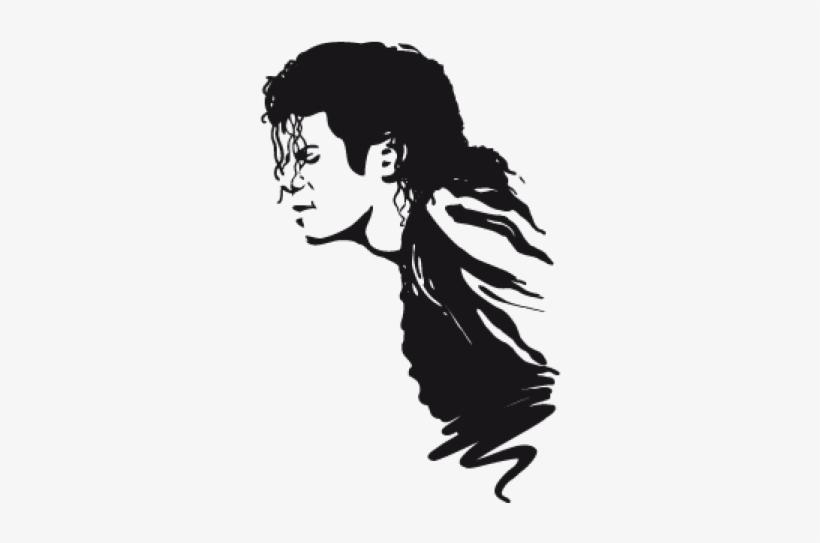 Michael Jackson Clipart Black And White - Black Michael Jackson Profile, transparent png #10073603