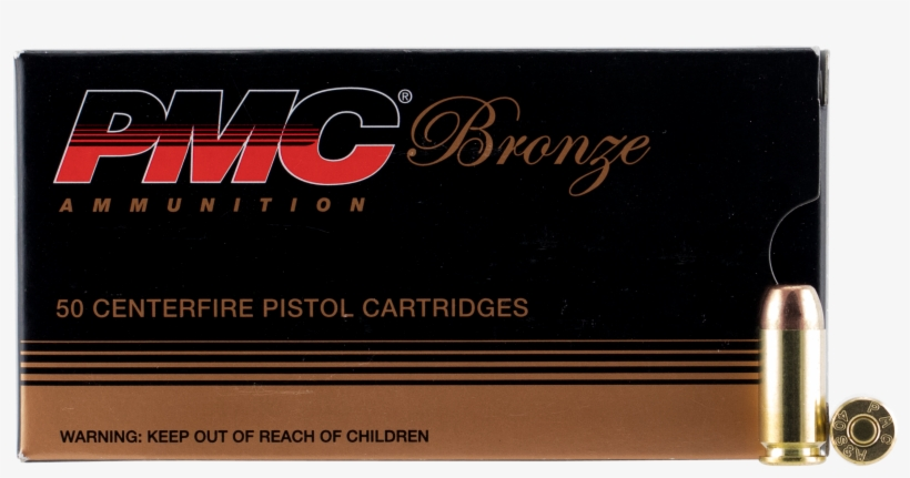 Pmc 40d Bronze 40 Smith & Wesson 165 Gr Full Metal - Bullet, transparent png #10073939