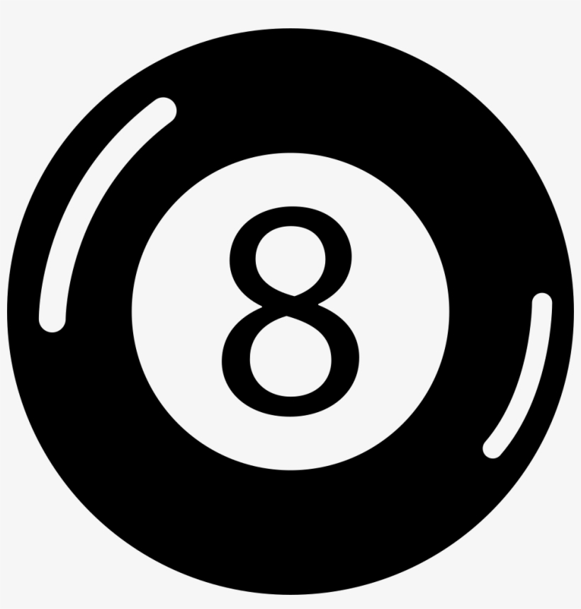 Eight Ball Billiards Comments - Instagram Button Png Black, transparent png #10076924