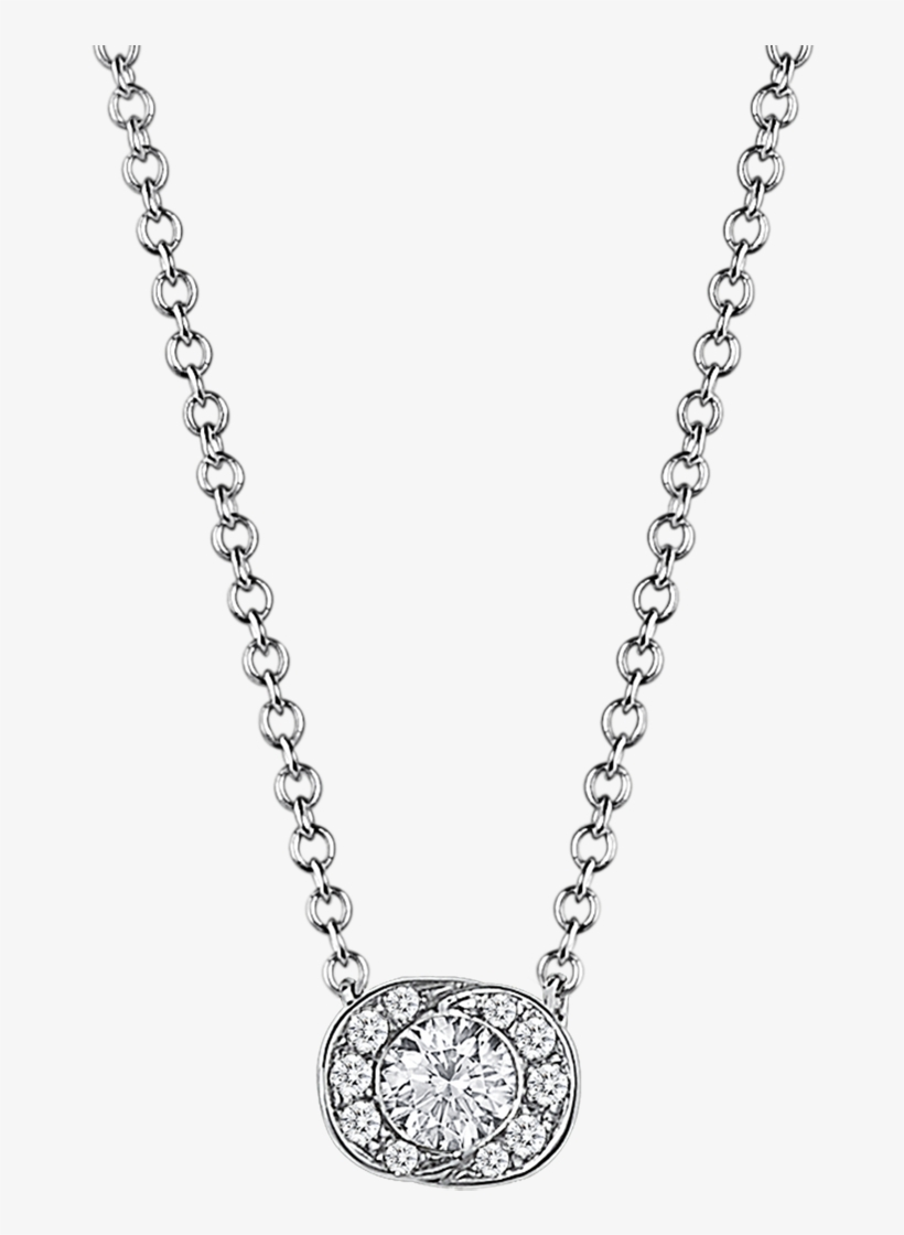 Incontro D'amore Necklace Necklace White Gold White - Solitaire Diamond Necklace, transparent png #10078040