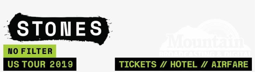 Rolling Stones // No Filter Tour Sponsor - Graphic Design, transparent png #10078119