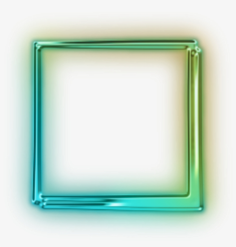 Quadrado Png With Transparent Background Green Neon Square Png Free Transparent Png Download Pngkey