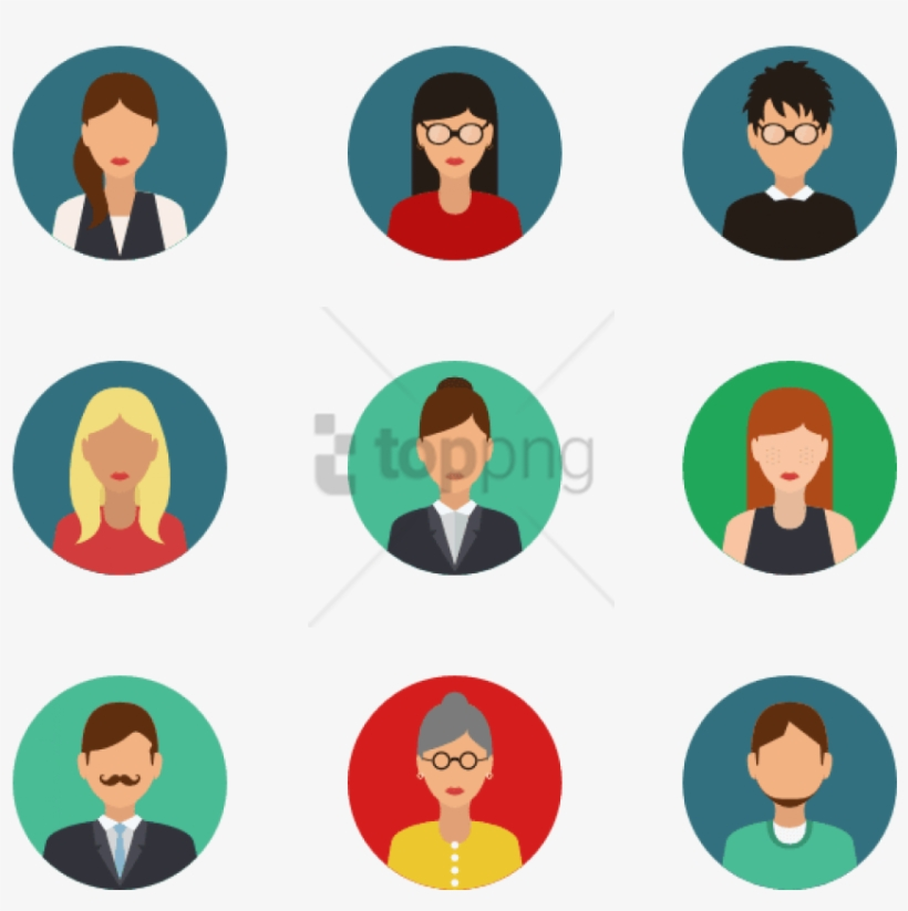 Free Png People 24 Icons - Avatar Flat Design, transparent png #10083164