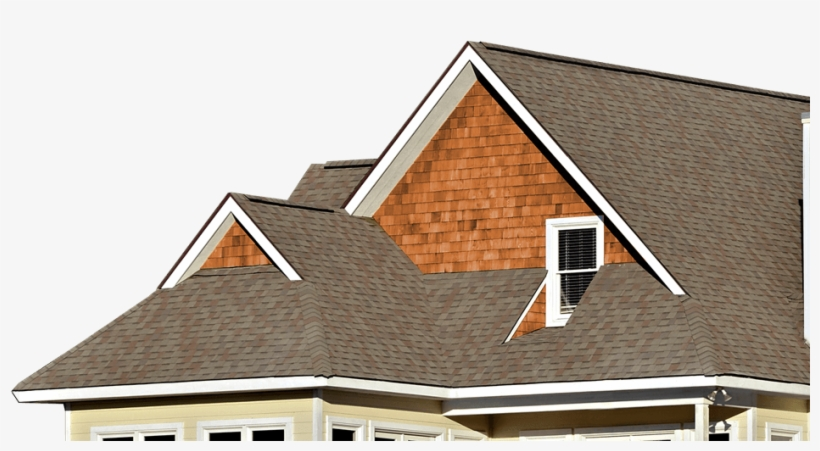 Shingle Roof House - Roof, transparent png #10084083
