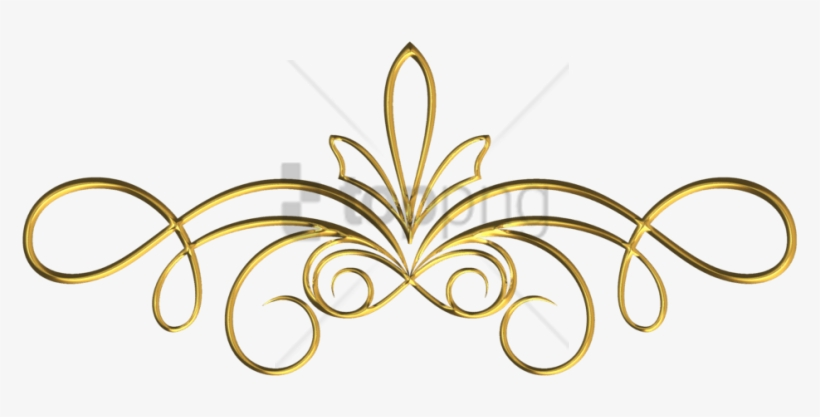 Free Png Gold Swirls Png Png Image With Transparent - Gold Scroll Frame Png, transparent png #10084398