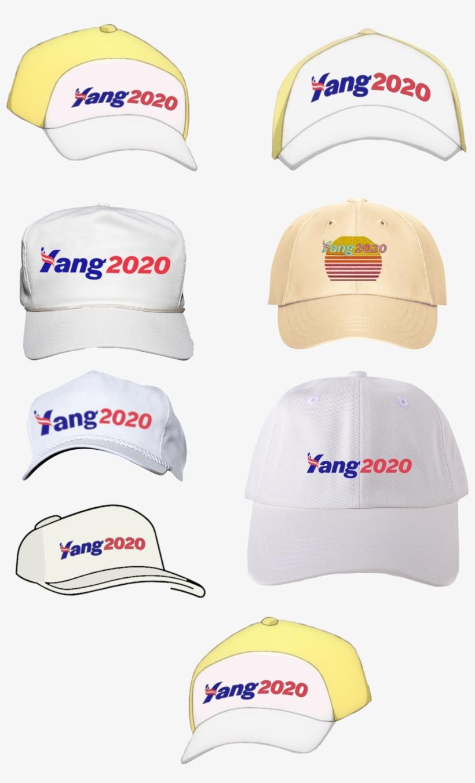 Yang Hat Template - Yang 2020 Hat Template, transparent png #10084998