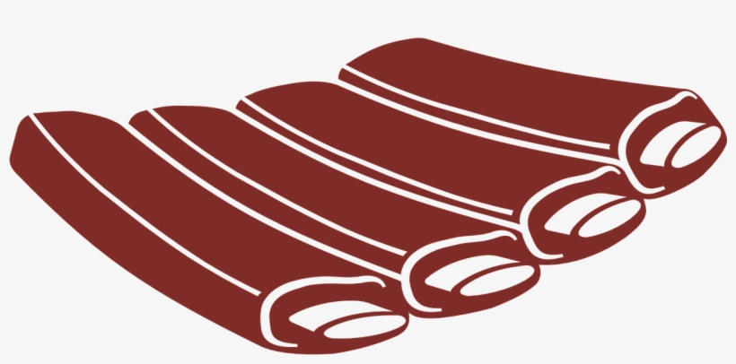 Rib Meat Food Vector Cattle Png Image - Costillas De Cerdo Vector, transparent png #10085648