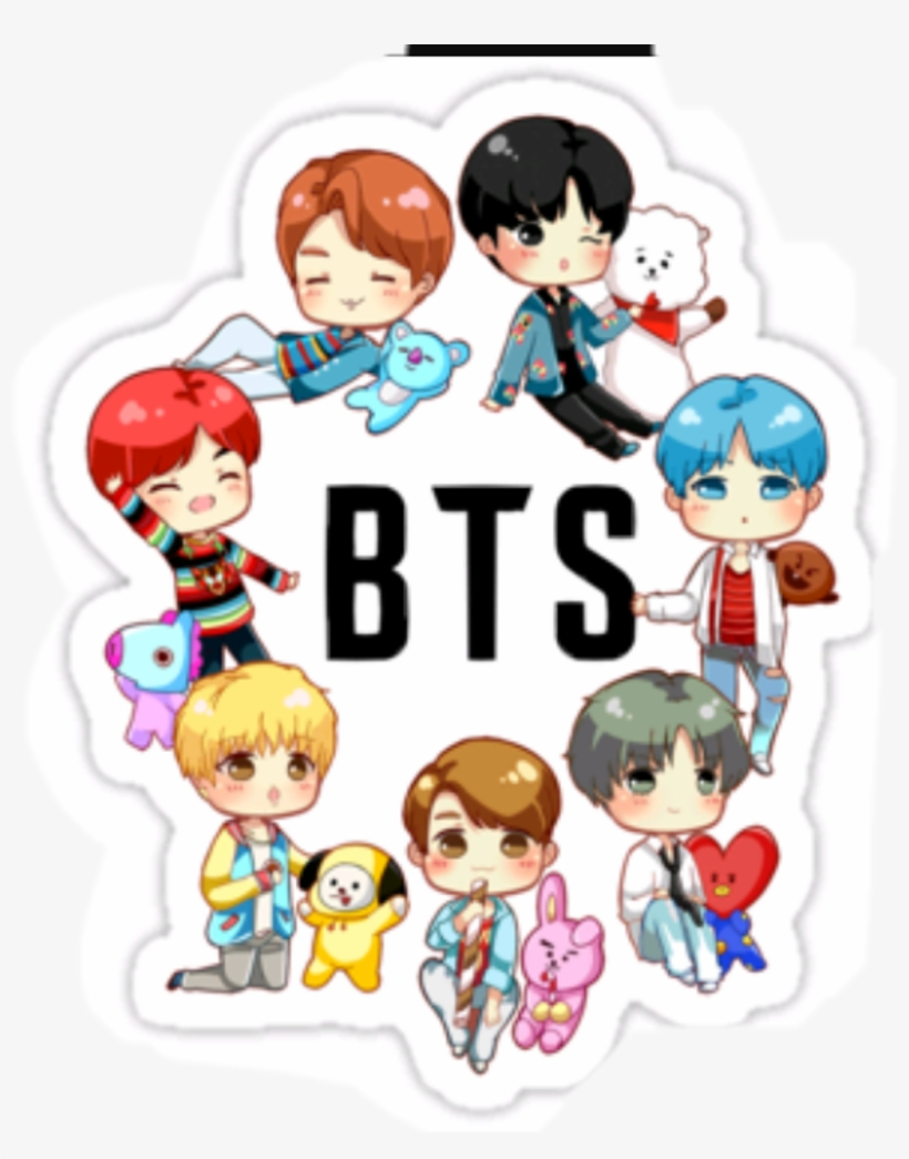 Stickers Galleryneed Beginner Deadpool Drawings Chibi - Bts Chibi Stickers Png, transparent png #10086150