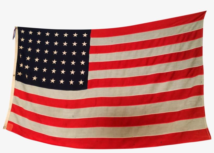 X-tra Large 48 Stars Vintage American Flag C - American Flag 1950, transparent png #10086202