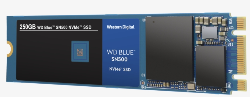 Wd Blue Sn500 Nvme Ssd - Western Digital Blue Sn500 Nvme, transparent png #10089820
