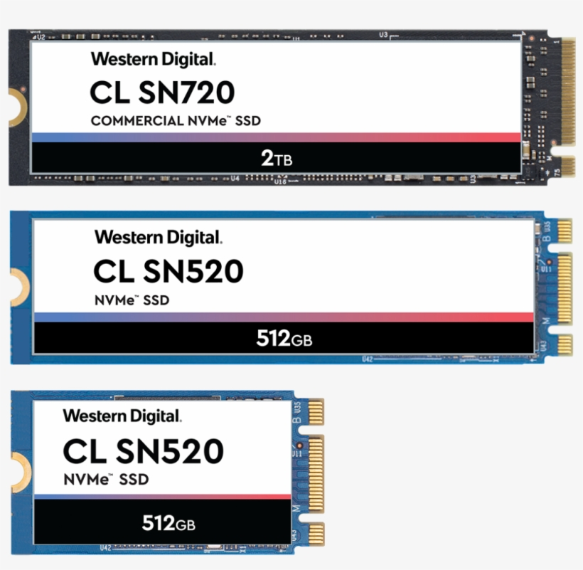 Commercial Nvme Solid State Drives - Wdc Pc Sn720, transparent png #10090037