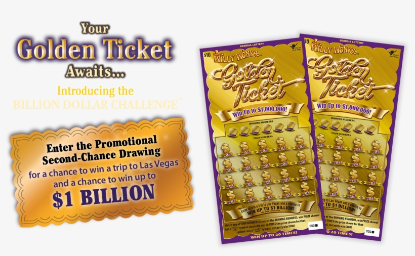 Jackpot Drawing Golden Ticket Transparent & Png Clipart - Willy Wonka Lottery Ticket, transparent png #10093717