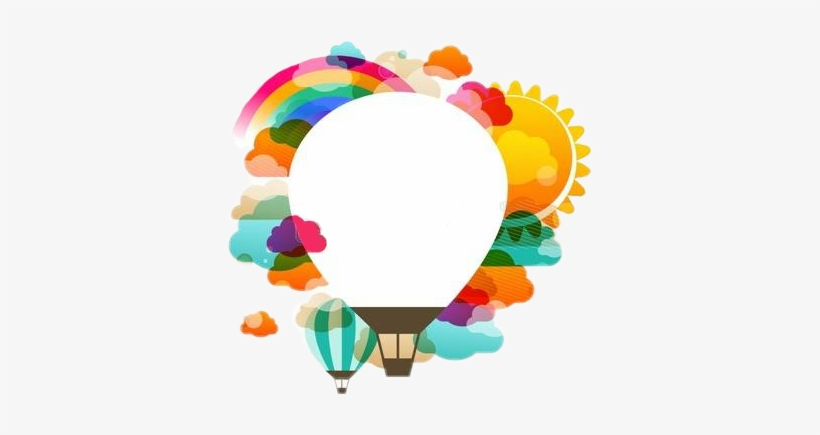 Burbuja De Pensamiento @sthefanyalmengor Dale Like - Hot Air Balloon Vector Design, transparent png #10095407