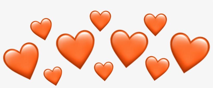 Png Download Source Orange Heart Heartcrown Emoji Emojiiphone - Emoji, transparent png #10095915