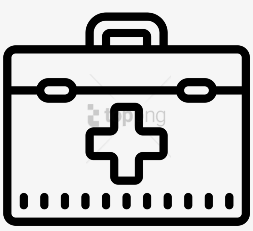 Free Png Doctors Bag Icon - First Aid Kit Outline, transparent png #10098348