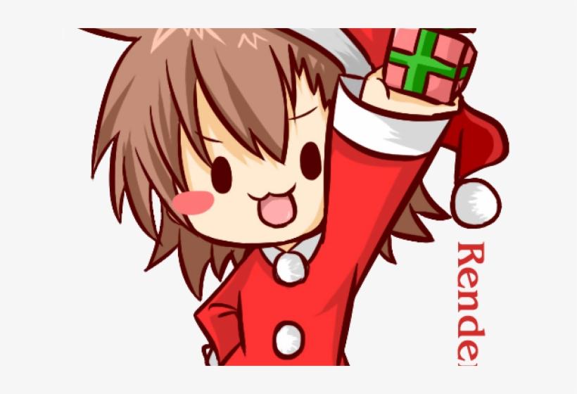 Merry Christmas Anime.Anime Boy Clipart Christmas Merry Christmas Anime Chibi