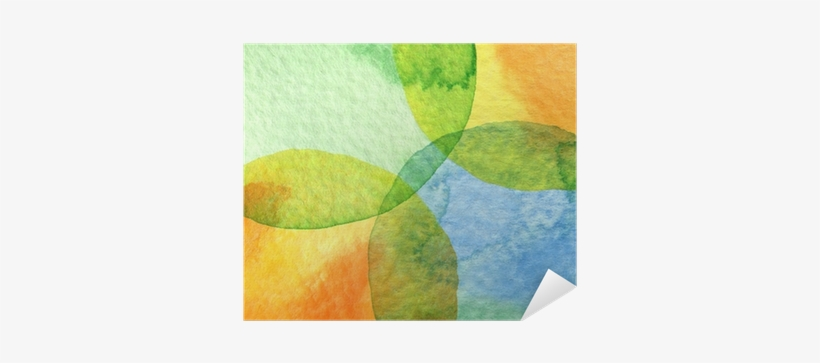 Abstract Watercolor Circle Painted Background Poster - Watercolor Painting, transparent png #1010448
