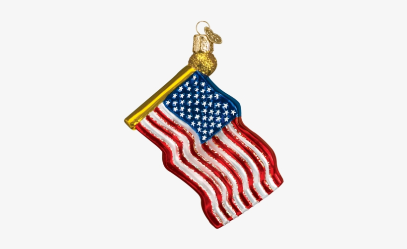 Christmas Ornament - Star Spangled Banner Glass Christmas Ornament, transparent png #1011718
