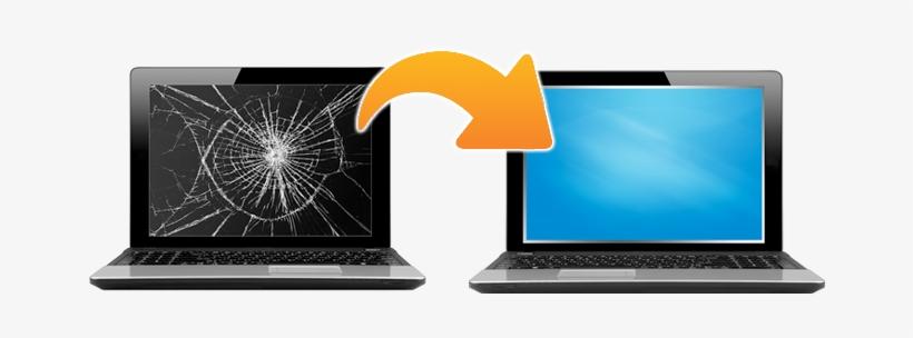 Cracked Or Broken Laptop Lcd Screen We Can Help - Laptops Broken Screen Png, transparent png #1014266