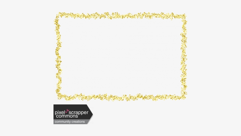 Raindrops Rainbows Kit Gold - Gold Glitter Frame Png, transparent png #1016039