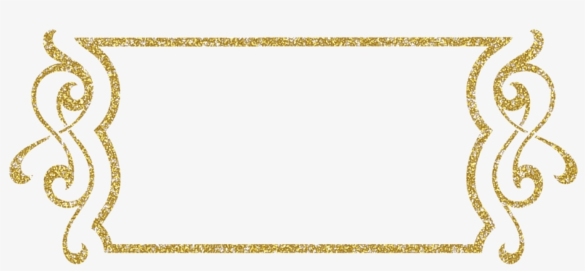Collection Of Free Frames Transpa Gold Glitter On Ubisafe - Frame Png Clipart Blue, transparent png #1016185