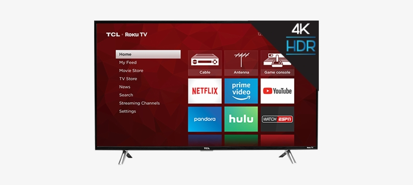 4-series - 49 Inch Tcl Smart Tv, transparent png #10101297
