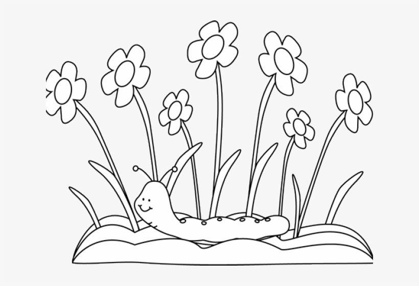 spring outline cliparts flower garden clip art black and white free transparent png download pngkey spring outline cliparts flower garden